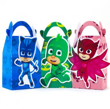 Pjmask Favor Box Candy Box Gift Box Cupcake Box Kids Birthday Party Supplies Decoration Event Party