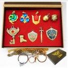 The Legend of Zelda Triforce Hylian Shield & Master Sword Keychain