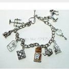 10pcs Beauty and the Beast Magical Charm Bracelet, Your Choice of Magic- Be Our Guest,
