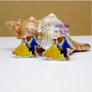 30 pcs beauty and the beast planar resin ribbon