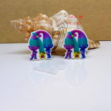 30 pcs Trolls planar resin ribbon