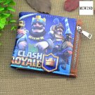 Hot Clash Royale Wallets Short Purse Money Holder Bags PU Leather Men Women Cartoon Anime Wallet
