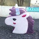 Fashion personality trend of laser sequins Unicorn shape shoulder bag handbag pink