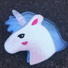 Fashion personality trend of laser sequins Unicorn shape shoulder bag handbag blue