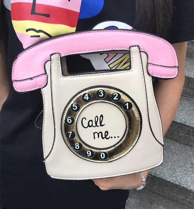 fashion phone shape letters ladies pu leather handbag chain shoulder bag flap crossbody Cream