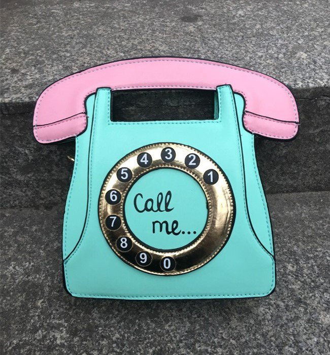 fashion phone shape letters ladies pu leather handbag chain shoulder bag flap crossbody Green
