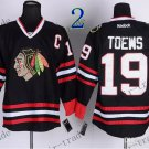 #19 Jonathan Toews Chicago Blackhawks Ice Hockey Jerseys color black