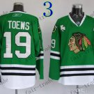 #19 Jonathan Toews Chicago Blackhawks Ice Hockey Jerseys color green