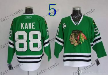# 88 Patrick Kane Chicago Blackhawks Ice Hockey Jerseys color green