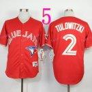 Top Quality ! Toronto Blue Jays Jersey Troy Tulowitzki #2 Jerseys red