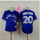 Top Quality ! Toronto Blue Jays Jersey Troy Donaldson #20 Jerseys blue