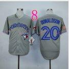 Top Quality ! Toronto Blue Jays Jersey Troy Donaldson #20 Jerseys gray