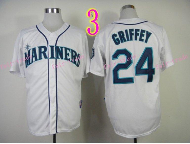 2015 Ken Griffey Jr Jersey Cool Base Seattle Mariners 1979 Turn Back retro white style 1