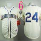 2015 Ken Griffey Jr Jersey Cool Base Seattle Mariners 1979 Turn Back retro white style 3