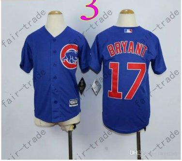 Chicago Cubs Jersey Kids 17 Kris Bryant Jersey color blue