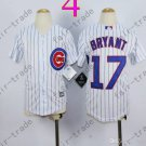Chicago Cubs Jersey Kids 17 Kris Bryant Jersey color white