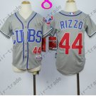 Chicago Cubs Jersey Kids  #44 Anthony Rizzo Jersey color gray