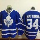 2016 Men Toronto Maple Leafs Ice Hockey Jerseys #34 Auston Matthews blue Jersey