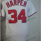 Washington Nationals #34 Bryce Harper 2015 Baseball Jersey Rugby Jerseys white style 2