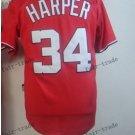 Washington Nationals #34 Bryce Harper 2015 Baseball Jersey Rugby Jerseys red