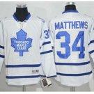 2017 Toronto Maple Leafs Jerseys 100th Anniversary 34 Auston Matthews  Hockey Jersey white style1