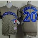 toronto blue jays #20 josh donaldson 2015 Baseball Jersey Rugby Jerseys Authentic Stitched gray
