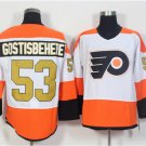 50th Anniversary Philadelphia Flyers Jerseys 53 Shayne Gostisbehere Classic Gold Throwback Hockey