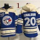 Toronto Blue Jays #20 Josh Donaldson Baseball Hooded Stitched Old Time Hoodies Sweatshirt Jerseys