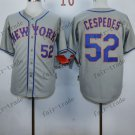 New York Mets  #52 Yoenis Cespedes 2015 Baseball Jersey Rugby Jerseys Authentic Stitched style 2