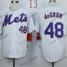 New York Mets  #48 Jacob DeGrom  2015 Baseball Jersey Rugby Jerseys Authentic Stitched style 1