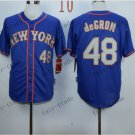 New York Mets  #48 Jacob DeGrom  2015 Baseball Jersey Rugby Jerseys Authentic Stitched style 3