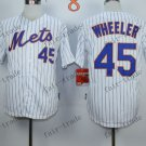 New York Mets  #45 Zack Wheeler 2015 Baseball Jersey Rugby Jerseys Authentic Stitched style 1