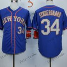 New York Mets 34 noah syndergaard 2015 Baseball Jersey Rugby Jerseys Authentic Stitched style 3