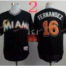 Jose Fernandez Jersey 16# Miami Marlins Cool Base Uniforms black 2015 style 1