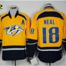 Hot Jerseys Nashville Ice Hockey #18 James Neal  Team Color Yellow