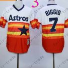 Hot Top Quality Jerseys Houston Astrosl  #7 Craig Biggio Rainbow Orange Jersey