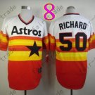 Hot Top Quality Jerseys Houston Astros #50 J.R. Richard  Rainbow Orange Jersey
