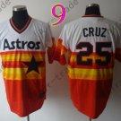 Hot Top Quality Jerseys Houston Astros  #25 Jose Cruz  Rainbow Orange Jersey