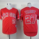 Los Angeles Angels 27 Mike Trout Jersey Flexbase LA Angels Mike Trout Baseball Jerseys red style 3