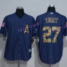Los Angeles Angels 27 Mike Trout Jersey Flexbase LA Angels Mike Trout Baseball Jerseys blue