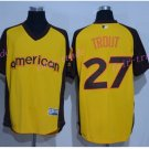 Los Angeles Angels 27 Mike Trout Jersey Flexbase LA Angels Mike Trout Baseball yellow