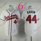 2014 NEW Hank Aaron Jersey White Cream Cool Base Atlanta Braves Jerseys style 4