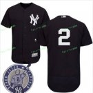 With Retirement Patch #2 Derek Jeter 2017 New York Yankees Men All Stitched Baseball Jersey black