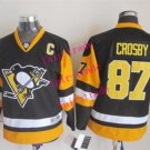 #87 Sidney Crosby Youth Ice Hockey Jerseys Kids Boys Stitched Jersey Black Orange