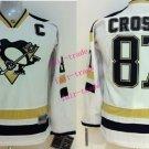 #87 Sidney Crosby Youth Ice Hockey Jerseys Kids Boys Stitched Jersey White 2