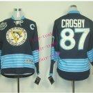 #87 Sidney Crosby Youth Ice Hockey Jerseys Kids Boys Stitched Jersey Black Blue