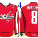washington 8 Alex Ovechkin Throwback Vintage Jersey ICE Hockey Jerseys Heritage Stitched
