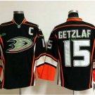 Anaheim Ducks 2017 Stanley Cup Champions patch Playoffs 15 Ryan Getzlaf Black Hockey Jerseys