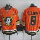 Anaheim Ducks 2017 Stanley Cup Champions patch Playoffs 18 Selanne Orange Hockey Jerseys