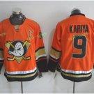Anaheim Ducks 2017 Stanley Cup Champions patch Playoffs 9 Kariya Orange Hockey Jerseys